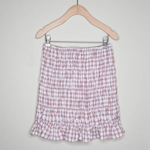 Finders red checkered Skirt